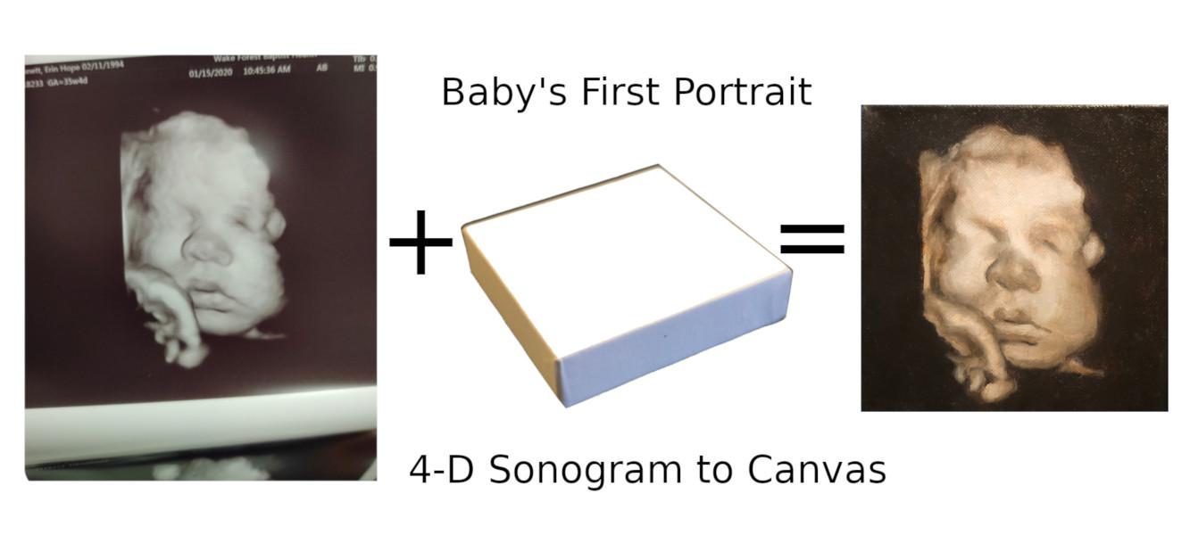 4D Sonogram to Canvas