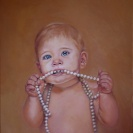Claire with Pearls